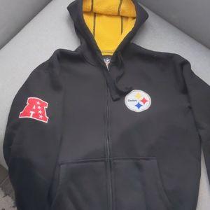 Pittsburgh Steelers full zip hoodie size M.